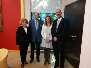 S leva na desno: dr Jasmina Knežević, dr Erich Sieber, Marija Rabrenović, dr Predrag Stojičić