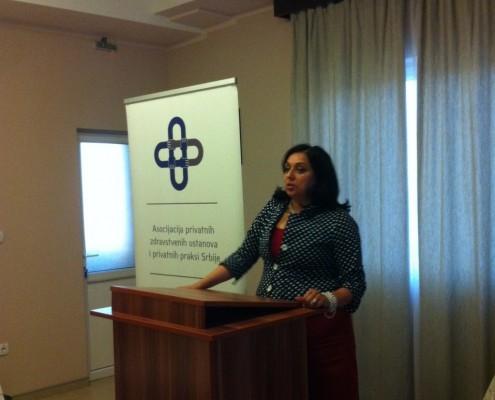 spec. dr med. Vesna Jovanovic u obraćanju prisutnima na sastanku