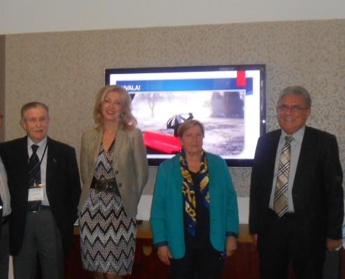 Deo predavača, s leva na desno: Prof. dr Sava Mićić, Akademik prof. dr Predrag Djordjević, doc. dr Nevenka Raketić, prof. dr Anka Paović, prof. dr Slobodan Apostolski, prim. dr Ljiljana Milivojević